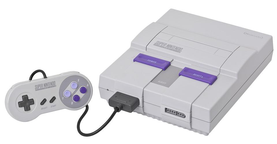 SNES Super Nintendo Entertainment System video-game-console
