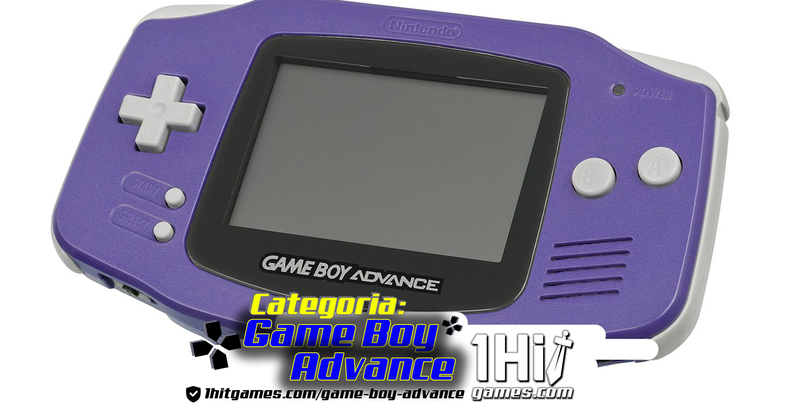 Game Boy Advance Purple Nintendo 1hitgames categoria gaming 1hit