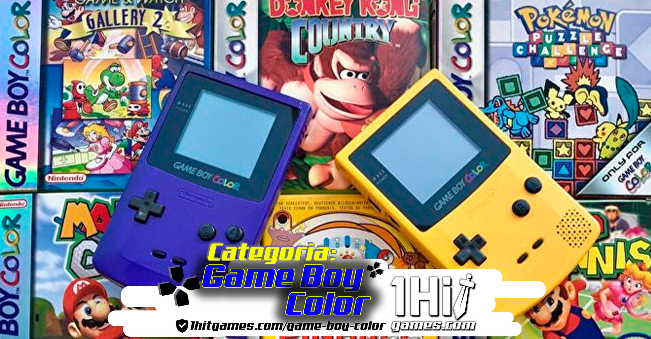 Game Boy color Nintendo 1hitgames categoria gaming 1hit