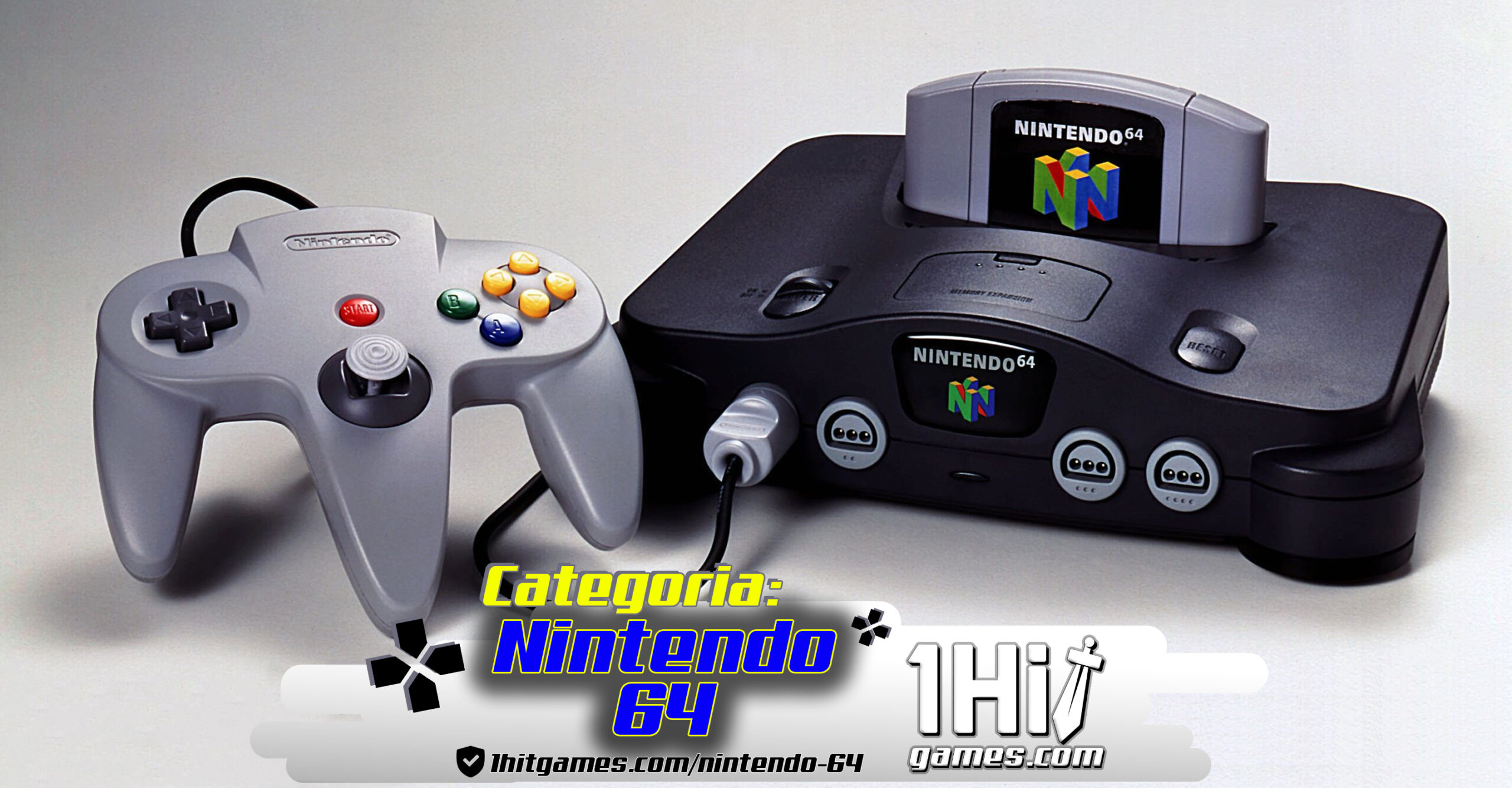nintendo 64 1hitgames gaming gamer 1hit categorias conttrol controles 4 fita cartucho 64bits N64