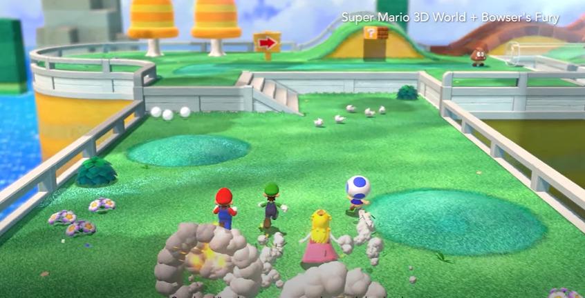 Super Mario 3D World + Bowser's Fury terá cooperativo e gigantes