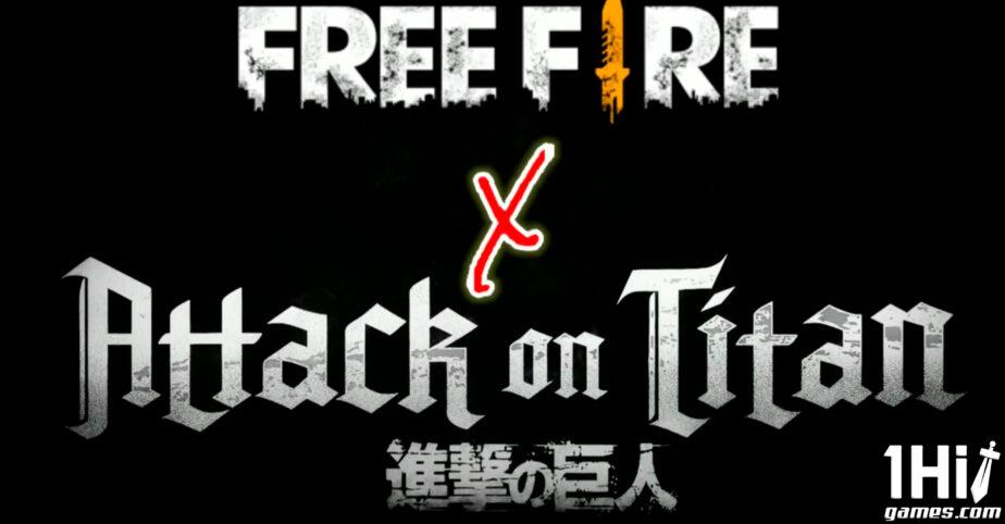 Free Fire: crossover com Attack on Titan