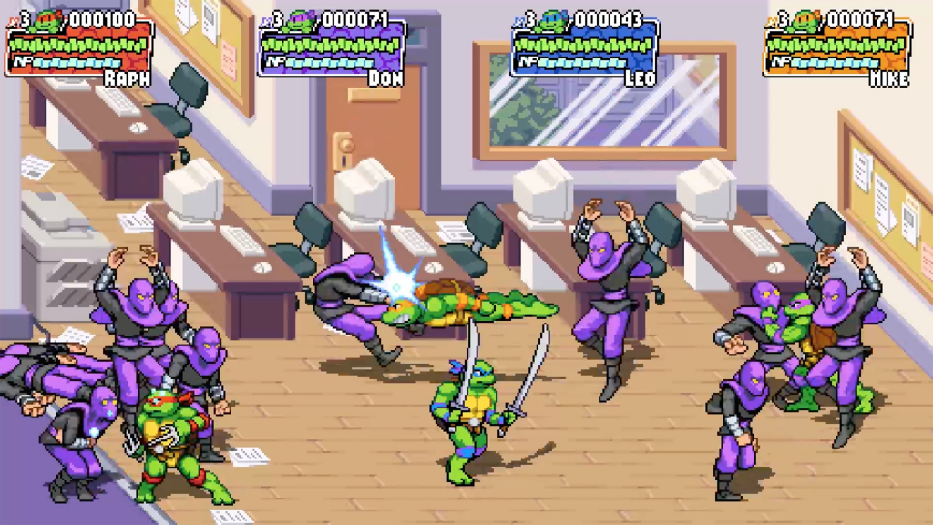 Teenage Mutant Ninja Turtles: Shredder's Revenge pc Dotemu tartarugas ninjas nostalgia 1hit games