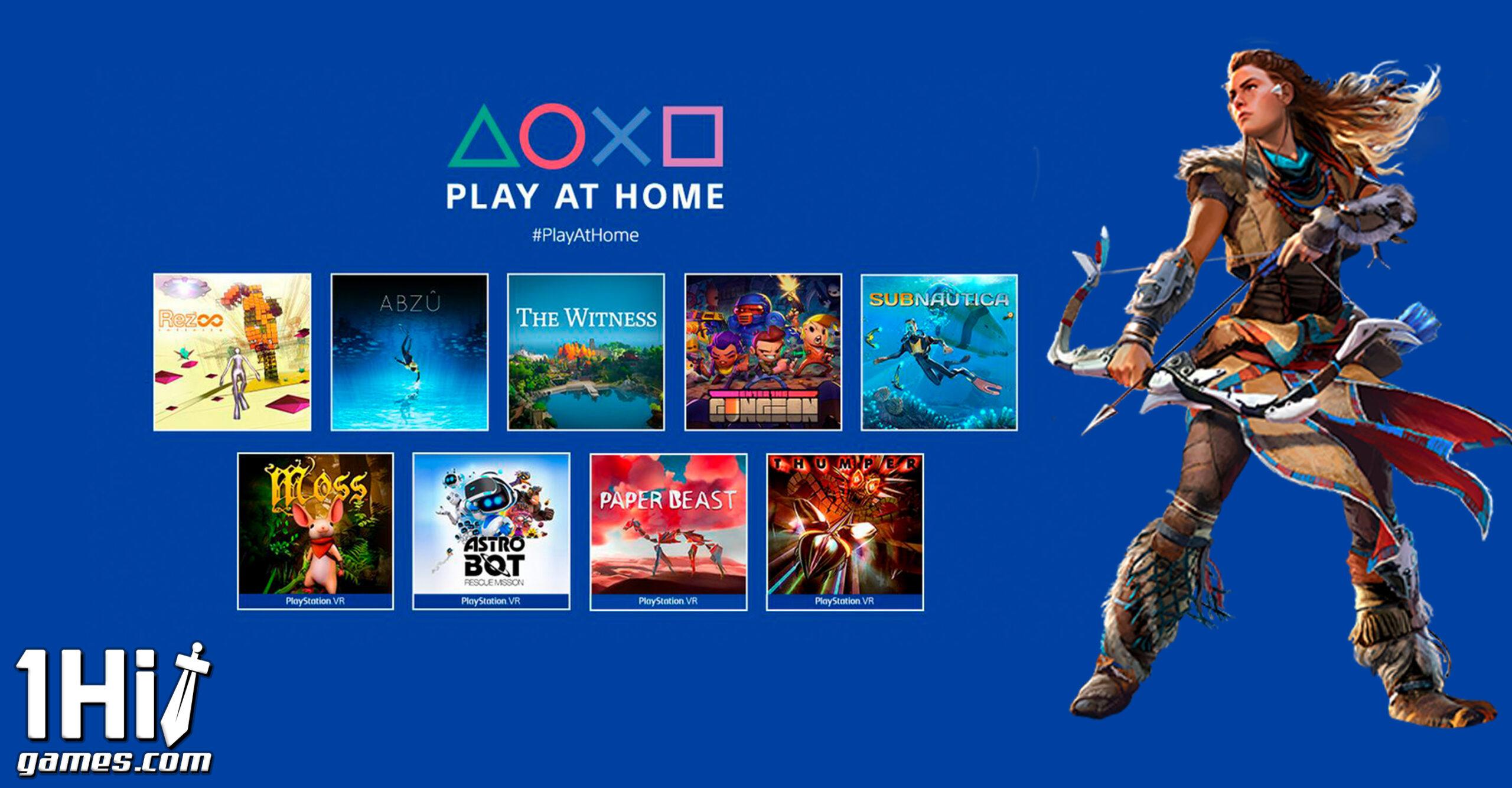 Play At Home: Horizon Zero Dawn e mais 9 jogos gratuitos