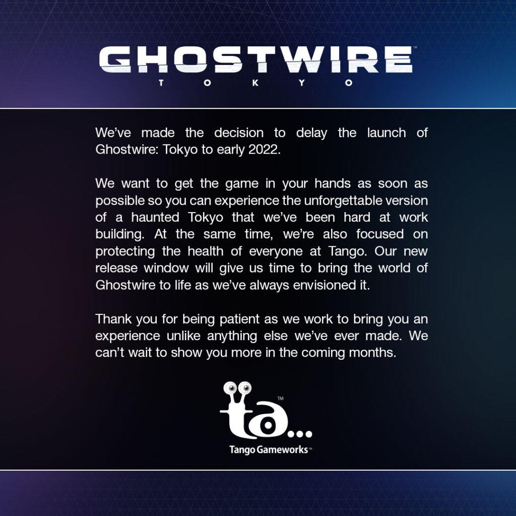 Ghostwire: Tokyo é adiado para 2022