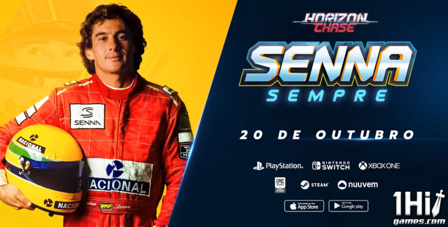 Horizon Chase: terá expansão com Ayrton Senna